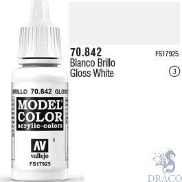 Vallejo 003: Modelcolor 842: Glossy White 17 ml.