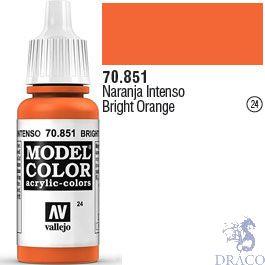 Vallejo 024: Modelcolor 851: Bright Orange 17 ml.