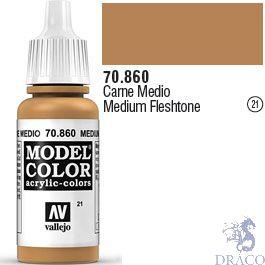 Vallejo 021: Modelcolor 860: Medium Fleshtone 17 ml.