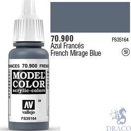 Vallejo 059: Modelcolor 900: French Mirage Blue 17 ml.