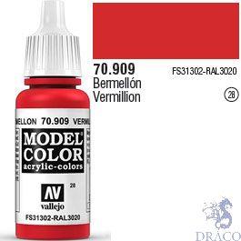 Vallejo 028: Modelcolor 909: Vermillion 17 ml.