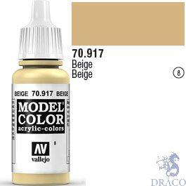 Vallejo 008: Modelcolor 917: Beige 17 ml.