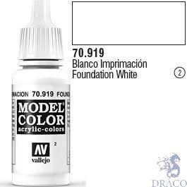 Vallejo 002: Modelcolor 919: Foundation White 17 ml.