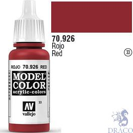 Vallejo 033: Modelcolor 926: Red 17 ml.