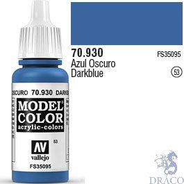 Vallejo 053: Modelcolor 930: Dark Blue 17 ml.