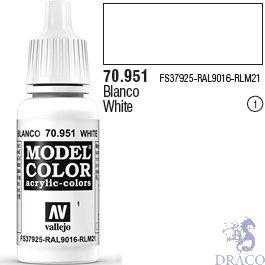 Vallejo 001: Modelcolor 951: White 17 ml.