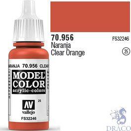 Vallejo 025: Modelcolor 956: Clear Orange 17 ml.