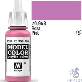 Vallejo 040: Modelcolor 958: Pink 17 ml.