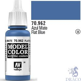 Vallejo 056: Modelcolor 962: Flat Blue 17 ml.
