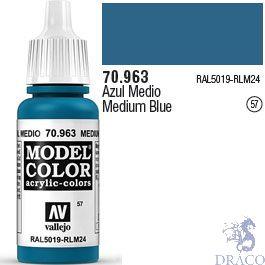 Vallejo 057: Modelcolor 963: Medium Blue 17 ml.