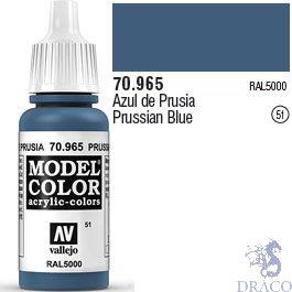 Vallejo 051: Modelcolor 965: Prussian Blue 17 ml.
