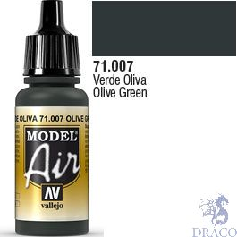 Vallejo Model Air 007: Olive Green 17 ml.