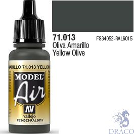 Vallejo Model Air 013: Yellow Olive 17 ml.