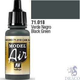 Vallejo Model Air 018: Black Green 17 ml.