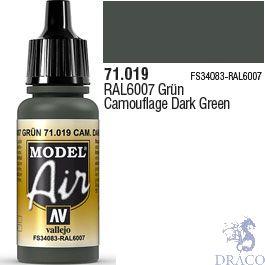 Vallejo Model Air 019: Camouflage Dark Green 17 ml.