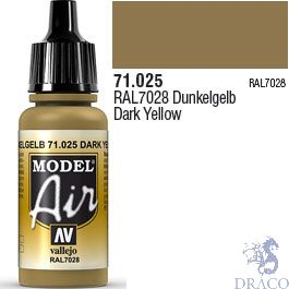 Vallejo Model Air 025: Dark Yellow 17 ml.