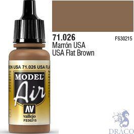 Vallejo Model Air 026: USA Flat Brown 17 ml.