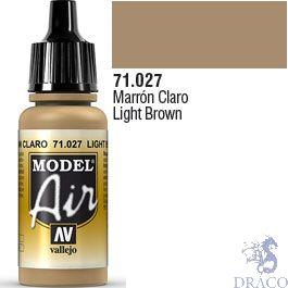 Vallejo Model Air 027: Light Brown 17 ml.