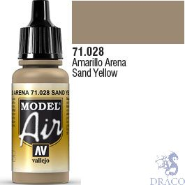Vallejo Model Air 028: Sand Yellow 17 ml.