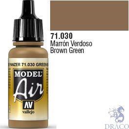 Vallejo Model Air 030: Brown Green 17 ml.