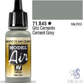 Vallejo Model Air 045: Cement Grey 17 ml.