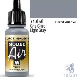 Vallejo Model Air 050: Light Gray 17 ml.