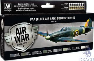 Vallejo Model Air Set 147: FAA (Fleet Air Arm) Colors 1939-1945 (8 colors)