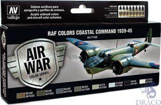 Vallejo Model Air Set 148: RAF Colors Coastal Command 1939-1945 (8 colors)