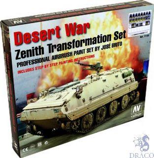 Vallejo Model Air Set 153: Desert War (Zenith Transformation) (9 colors+2 pigments)