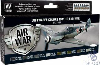 Vallejo Model Air Set 166: Luftwaffe Colors 1941 to end-war (8 colors)