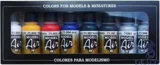 Vallejo Model Air Set 174: Basics Colors (8 colors)