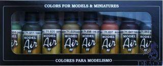Vallejo Model Air Set 175: WWII German Colors (8 colors)