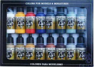Vallejo Model Air Set 178: Basic Colors (16 colors)