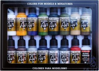 Vallejo Model Air Set 192: Bulding Set (16 colors)