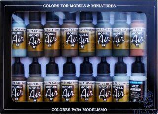 Vallejo Model Air Set 193: RLM Colors (16 colors)