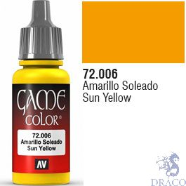 Vallejo Game Color 006: Sun Yellow 17 ml.