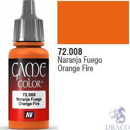 Vallejo Game Color 008: Orange Fire 17 ml.