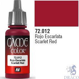 Vallejo Game Color 012: Scarlet Red 17 ml.