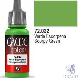 Vallejo Game Color 032: Scorpy Green 17 ml.