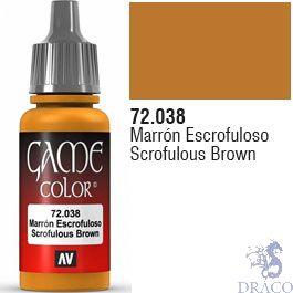 Vallejo Game Color 038: Scrofulous Brown 17 ml.