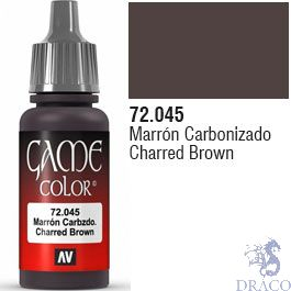 Vallejo Game Color 045: Charred Brown 17 ml.