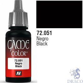 Vallejo Game Color 051: Black 17 ml.