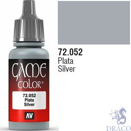Vallejo Game Color 052: Silver 17 ml.