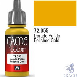 Vallejo Game Color 055: Polished Gold 17 ml.