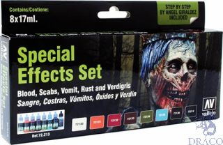 Vallejo Game Color Set 213: Special Effects Set by Angel Giraldez (8 colors)