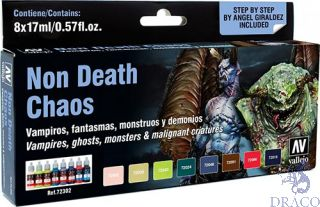 Vallejo Game Color Set 302: Non Death Chaos by Angel Giraldez (8 colors)