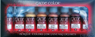 Vallejo Game Color Set 303: Metalic Colors (8 colors)