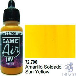 Vallejo Game Air 706: 17 ml. Sun Yellow