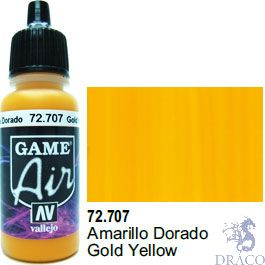 Vallejo Game Air 707: 17 ml. Gold Yellow