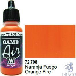 Vallejo Game Air 708: 17 ml. Orange Fire